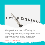 Pessimist Optimist quote - churchill